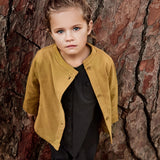 Organic Cotton Button Cardigan - Mustard - 1-10y