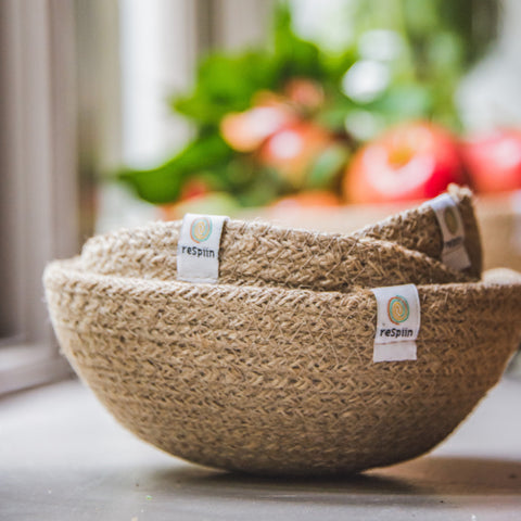 Jute Mini Bowl Sets - Natural, Fire & Ocean