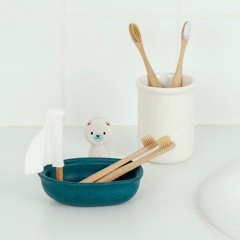 Bamboo Junior Toothbrush with Bamboo Bristles