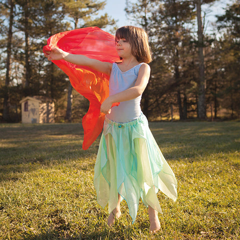 Large Enchanted Play Silks - Fire