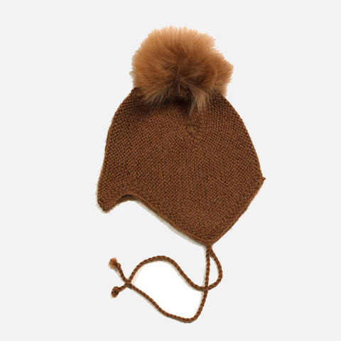 4d4b2fb3b01 Sold out Baby Alpaca Bonnet   Alpaca Pompom - Oak ...