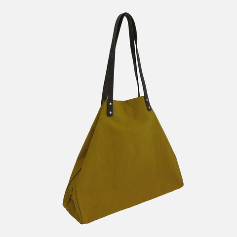 Waxed Cotton Giga Tote - Cumin