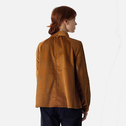 Cotton Corduroy A-Line Jacket - Cinnamon