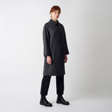 British Wool Louis Coat - Grey Herringbone