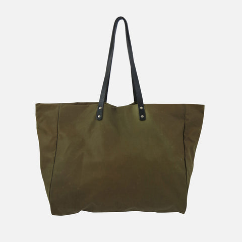 Waxed Cotton Giga Tote - Sand