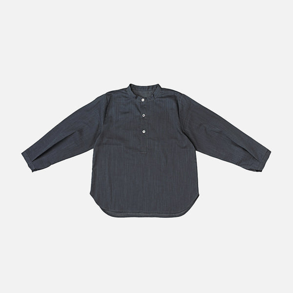 Cotton Emile LS Shirt - Charcoal - 3-8y