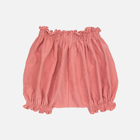 Cotton Corduroy Nina Bloomers - Rose -  6m-2y
