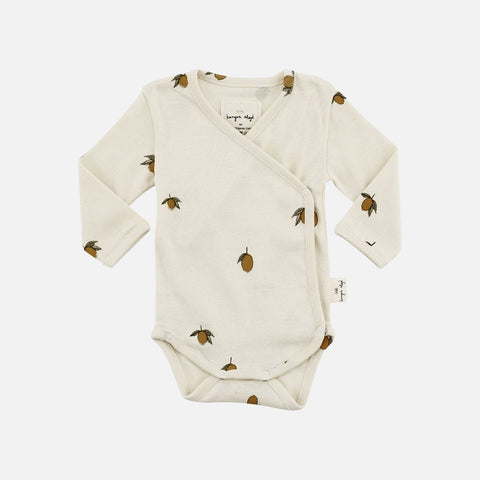 Organic Cotton Newborn Wrap Body - Lemon Print