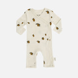 Organic Cotton Newborn Wrap Romper - Lemon Print - Premature-3m
