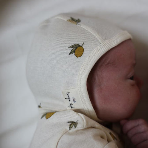 Organic Cotton Bonnet - Lemon Print