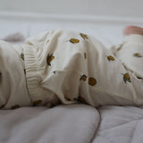 Organic Cotton Newborn Leggings - Lemon Print