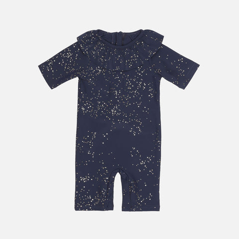 Collar UV Swim Suit - Navy Etoile Gold - 6m-4y