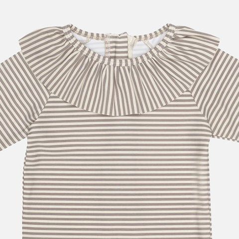 Collar UV Swim Suit - Striped - 12m-4y