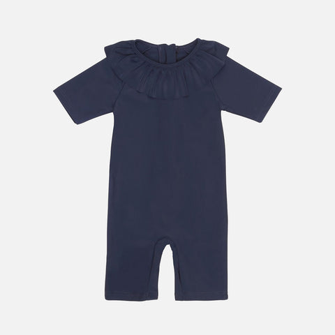 Collar UV Swim Suit - Navy - 6m-4y