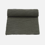 Organic Cotton Baby Blanket/Swaddle - Ivy Green Pointelle