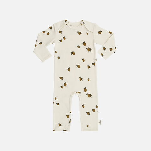 Organic Cotton Romper - Lemon Print - 6m-3y