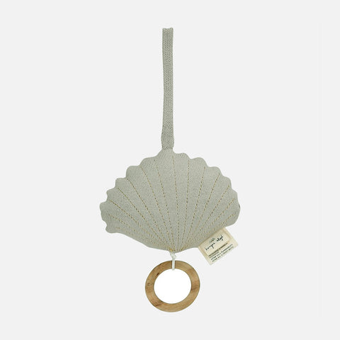 Cotton Clam Music Box - Light Grey Melange