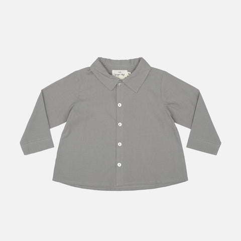Organic Cotton Uma Shirt - Grey Leafe - 1-9y
