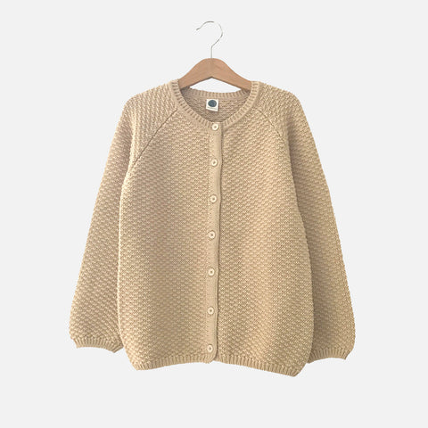 Cotton/Merino Armel Cardigan - Powder - 2-10y