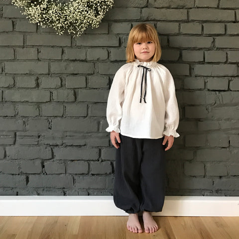 Organic Cotton Baggy Pants - Graphite - 1-8y
