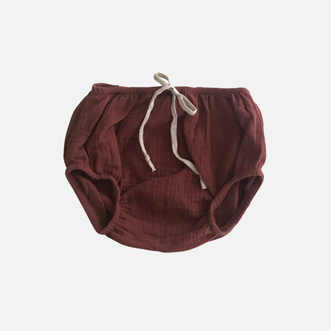 Organic Cotton Bloomers - Chestnut - 6m-4y
