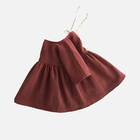 Organic Cotton Liilu Dress - Chestnut - 1-8y