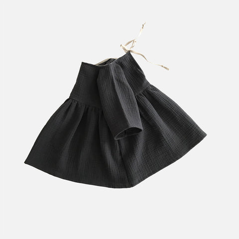 Organic Cotton Liilu Dress - Graphite - 1-8y