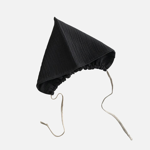 Organic Cotton Pixie Bonnet - Graphite - 6m-4y