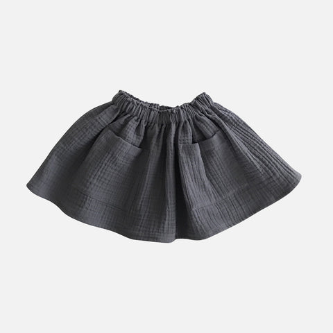Organic Cotton Pocket Skirt - Elephant - 1-8y