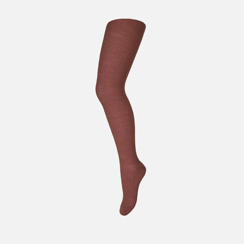 Wool Capsule Tights - Brick - 0-12y