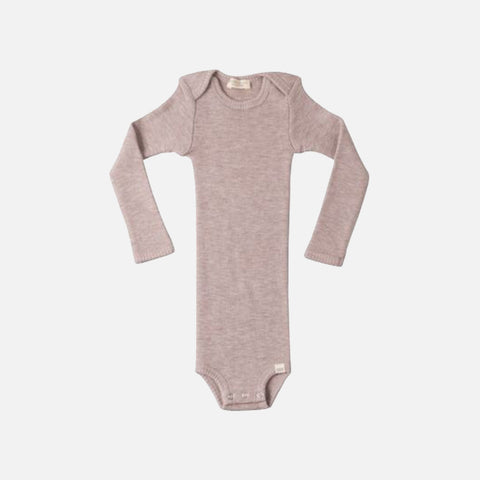 Merino Alaska Long Sleeve Body - Dusty Rose - 1m-3y