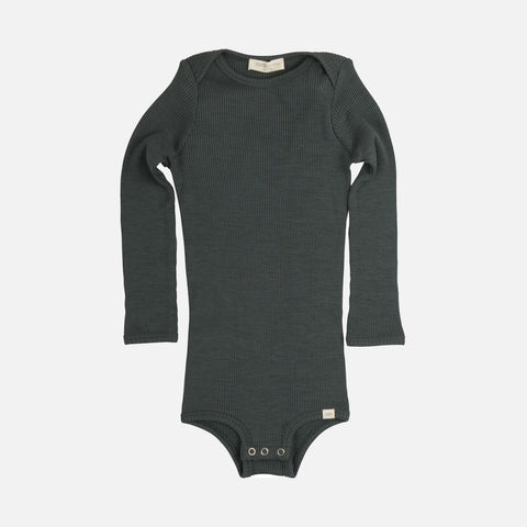 Merino Alaska Long Sleeve Body - Jade Green - 1m-3y