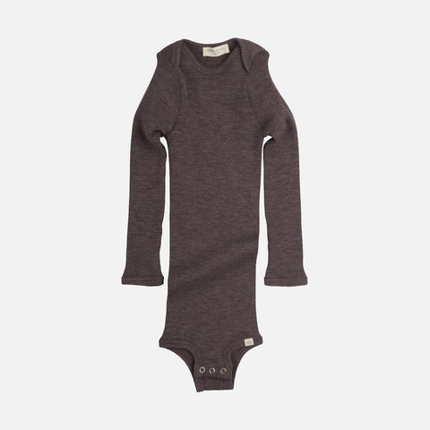 Merino Alaska Long Sleeve Body - Plum - 1m-3y