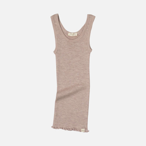Merino Arendal Tank Top - Dusty Rose - 2-10y