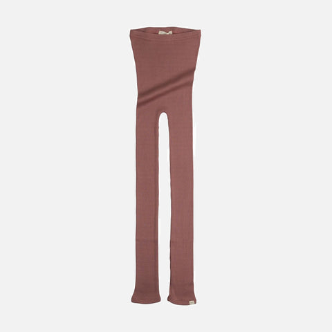 Silk/Cotton Bieber Rib Pants - Antique Red - 1m-10y