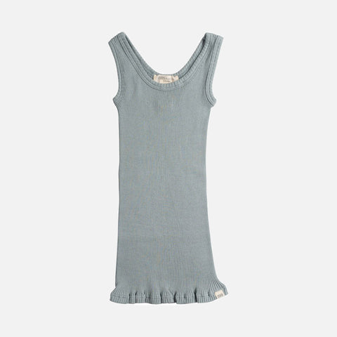 Silk/Cotton Billund Rib Tank Top - Pale Jade - 2-10y