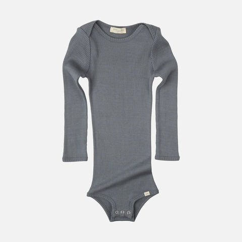 Silk/Cotton Bono LS Rib Body - Stone - 1m-3y