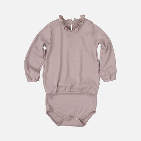 Organic Cotton Nanna Romper - Dusty Rose - 1m-3y