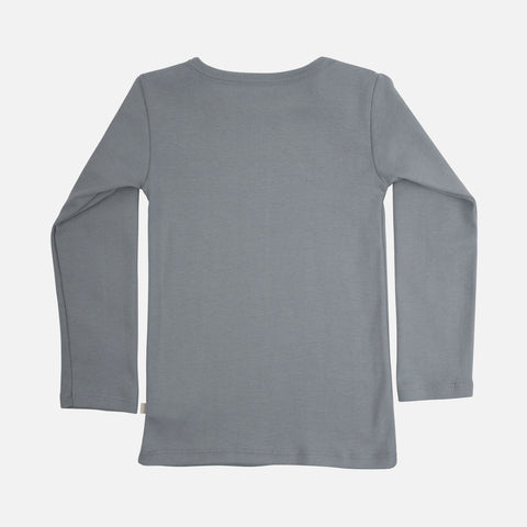 Organic Cotton Nimbus Long Sleeve Top - Powder Blue - 2-6y