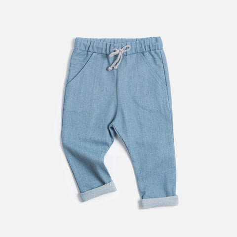Organic Cotton Pocket Jeans - Stone Washed - 2-8y