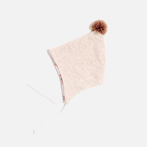 Organic Cotton Fleece Bonnet - Nude - 6m-2y
