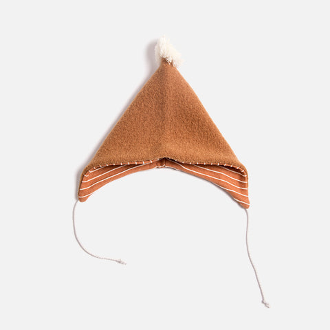 Boiled Wool Bonnet - Terracotta - 6m-2y