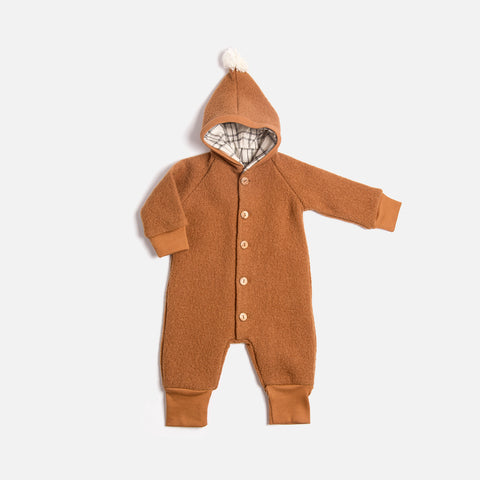 Boiled Wool Suit - Terracotta - 6m-2y