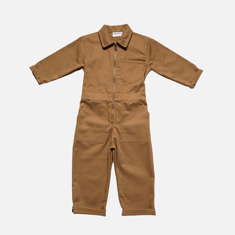 Cotton Engineer Boilersuit - Tan - 2-7y