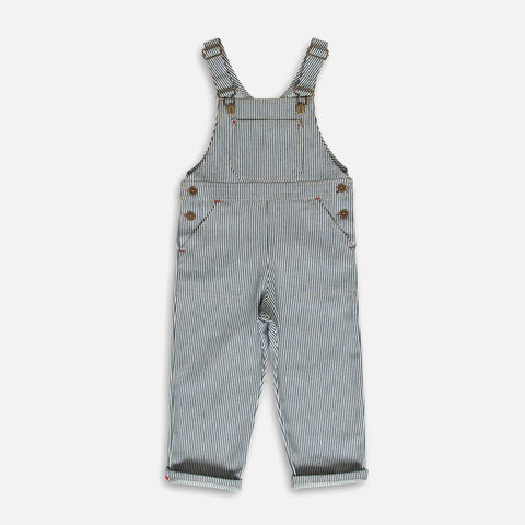 Cotton Porter Dungaree - Indigo Stripe