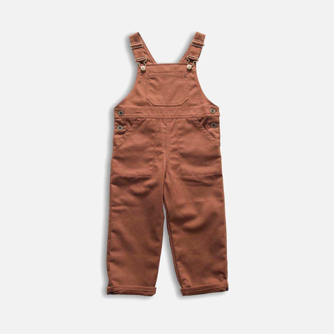 Cotton Porter Dungaree - Chestnut