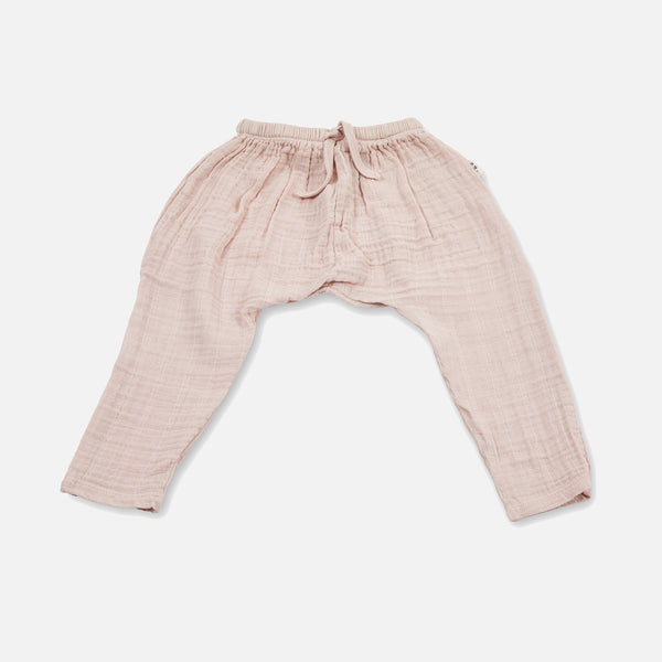 Cotton Muslin Opa Harem Pants - Rose - 8y
