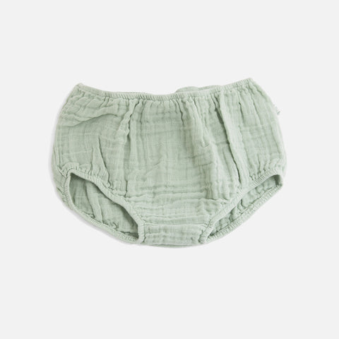 Cotton Muslin Eliotte Bloomers - Green - 3m-3y
