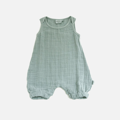 Cotton Muslin Kiko Romper - Cool - 3m-3y