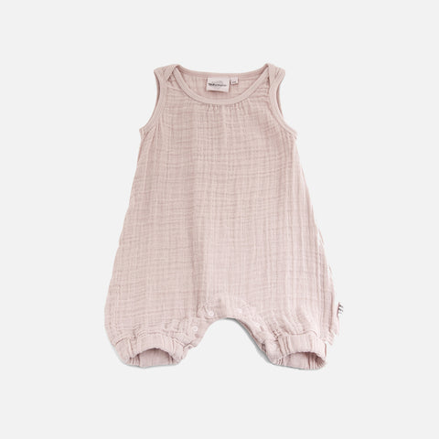 Cotton Muslin Kiko Romper - Rose - 3m-3y